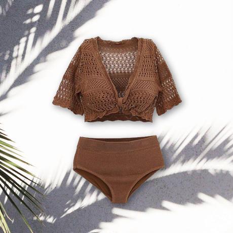 knit swim wear bikini/ニット スイムウェア ビキニ