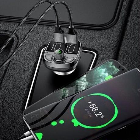 ブルートゥース トランスミッター 車 カーオーディオ ハンズフリー 充電 QC3.0 USB AUX ipod iphone android