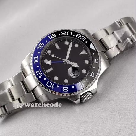 nologo メンズ腕時計 機械式 自動巻き GMT オートマチック