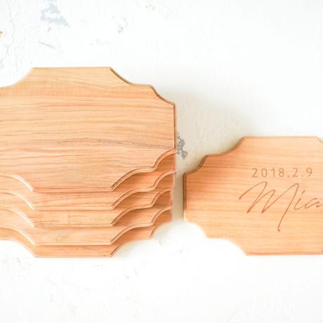 【名入れ可能】wood board / 桜無垢一枚板