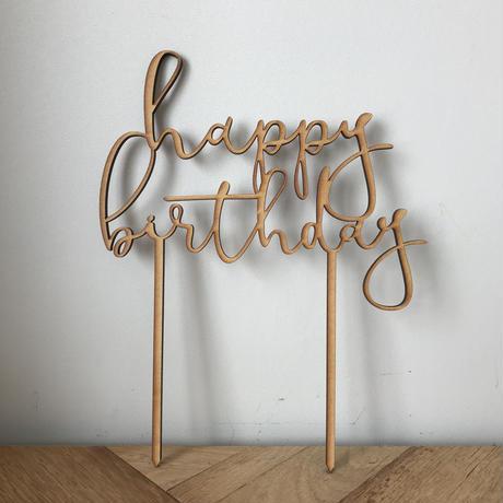 """ケーキトッパー """"happy birthday""""ハッピーバースデー"""