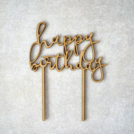 ケーキトッパー /happy birthday