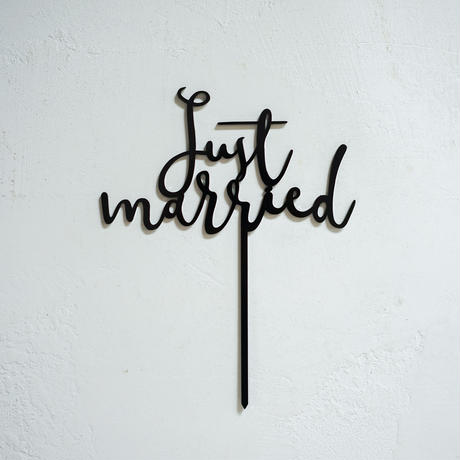 【black】ケーキトッパー  just married