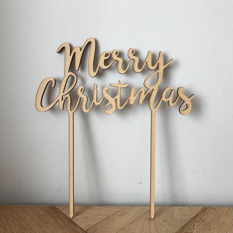 """ケーキトッパー""""merry christmas""""メリークリスマス"""