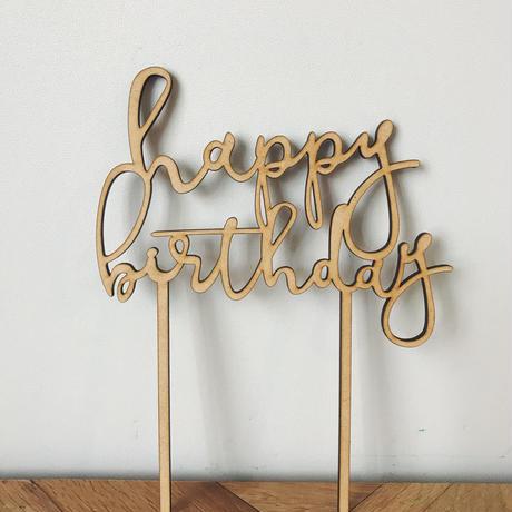 ケーキトッパー /happy birthday  品番 4580638900010