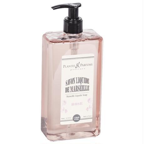 マルセイユボディソープ 500ml ローズ -Plantes&Parfums -