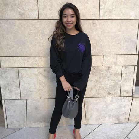 ロング丈 ロゴTシャツ(A) ブラック