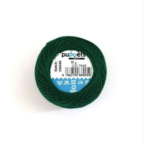 ハンガリー刺繍糸【7949】緑