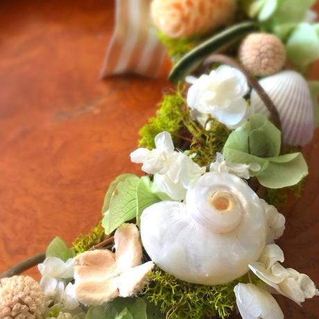 ガーベラプリザーブドフラワーリース。出産祝い、誕生日、縁起物のリースを。ウェディングのウェルカムリースにも  ♡