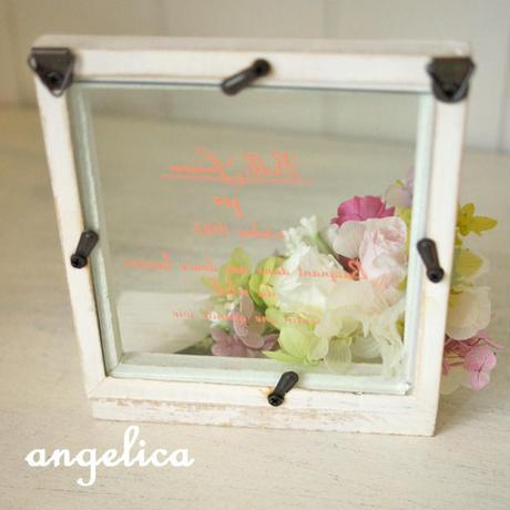 小さな額 プリザーブドフラワー ピンクのバラ PC131021