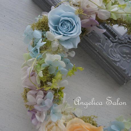 オーダー 世界に一つだけのバラのリース。ウェディングのウェルカムリース。両親贈呈品にも