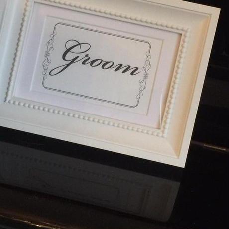 大人気!【定形外:送料無料】受付サイン/フレーム付 Bride・Groom オリジナルお名前入りオーダー無料 ホワイト