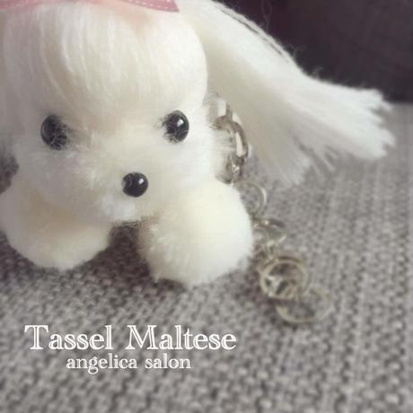 マルチーズ Model:メリーちゃん/白いわんちゃん タッセル技法で作ったセミオーダーわんちゃん