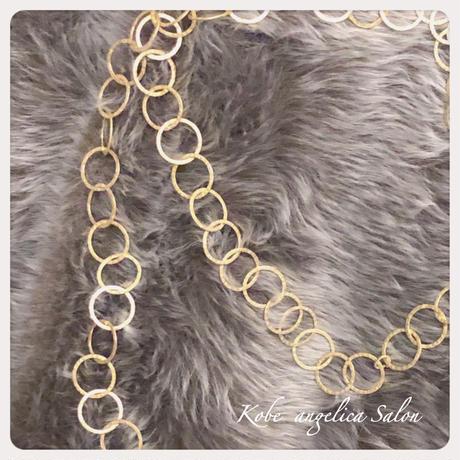 お出かけを軽やかに、華やかに♡おおぶりで軽い ロングネックレス .2連ネックレス 2way/40代・50代のアクセサリー