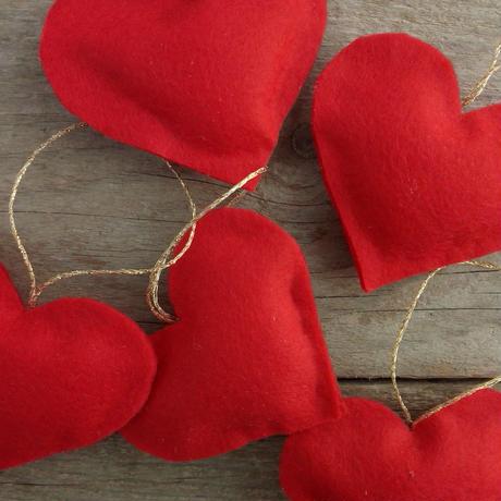 赤い心 , 5個セット, 美しい贈り物