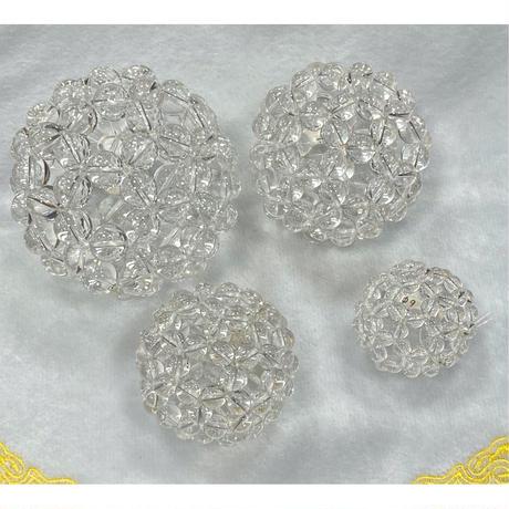 高波動⭐︎神聖幾何学フラーレン 水晶バッキーボール 直径約42mm