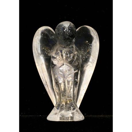 水晶エンジェル 手彫りの守護天使2