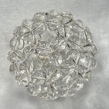 高波動⭐︎神聖幾何学フラーレン 特大水晶バッキーボール 直径約80mm