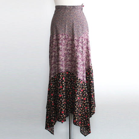 1970s gipsy patchwork skirt