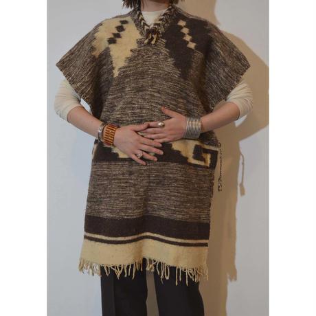 vintage wooly poncho