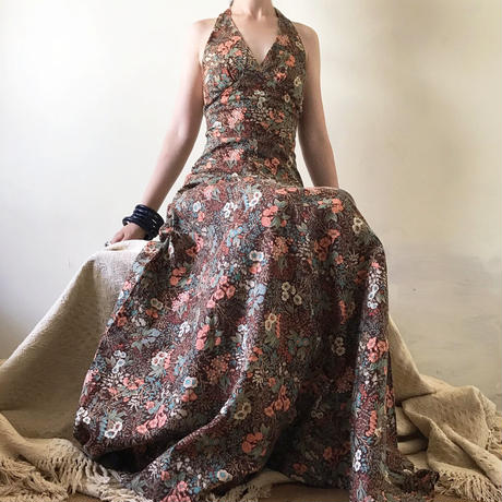 1970s Liberty print maxi dress