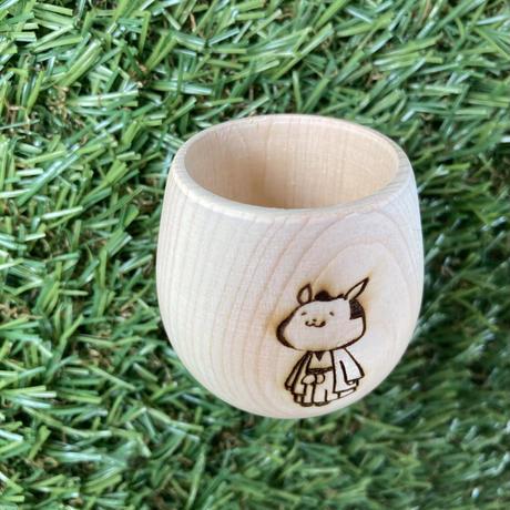 ヒノキぐい呑み(だるま型)/Sake cup