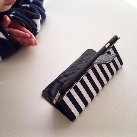 手帳型シルバーニコちゃんiPhoneケース