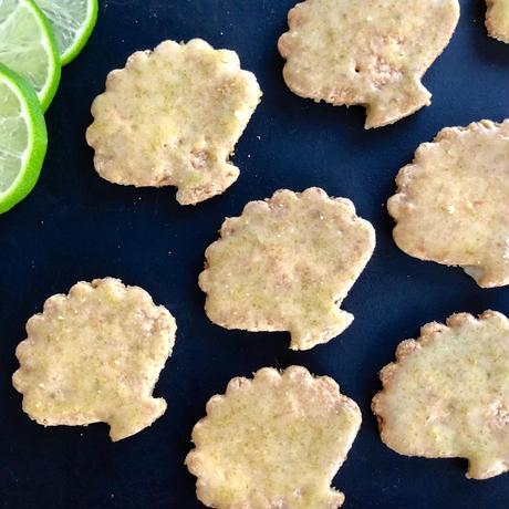 ココナッツとライムのクッキー