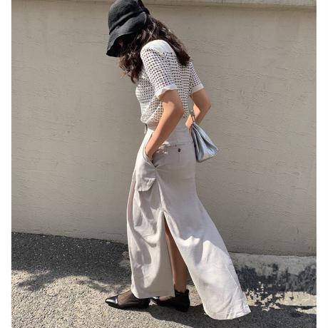 Long Slit-skirt(2color)