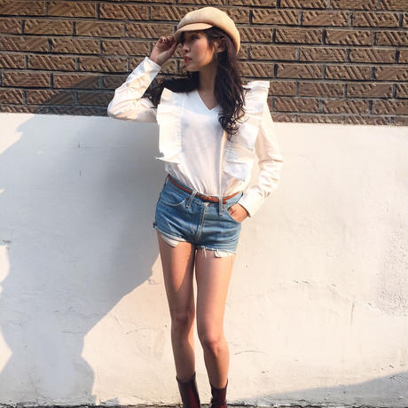 Frill Blouse IVORY