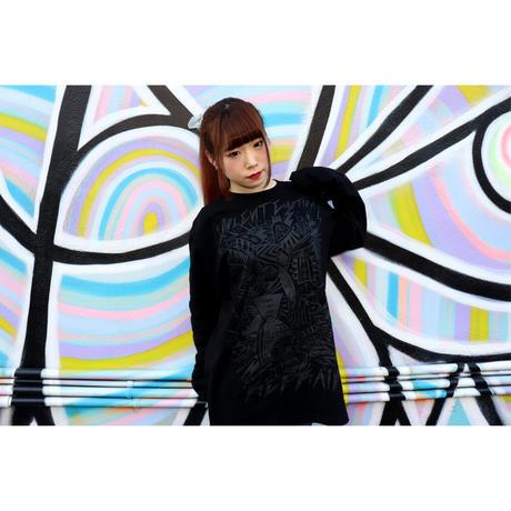 【新色】キョウグ コラボTシャツ (Black×Black)