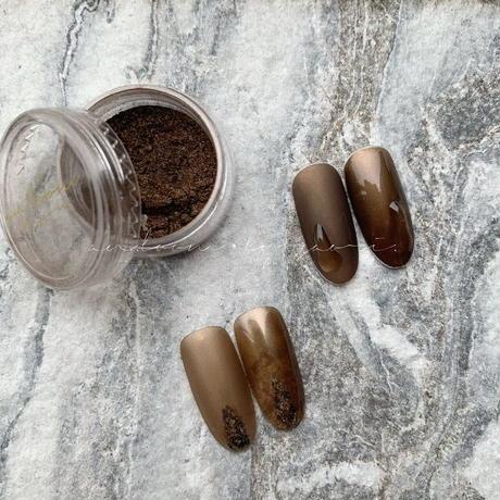 unique powder -de marron-