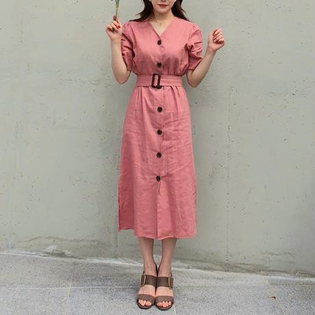 リネントレンチワンピース/ピンク
