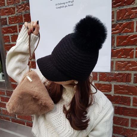 【SOLD OUT】knit cap / black