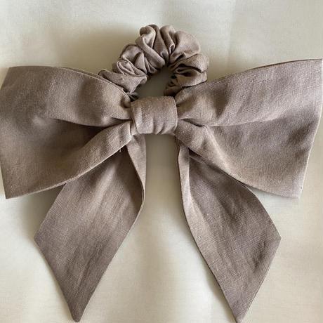 """POTETE """"linen ribbon""""chouchou 限定カラー"""