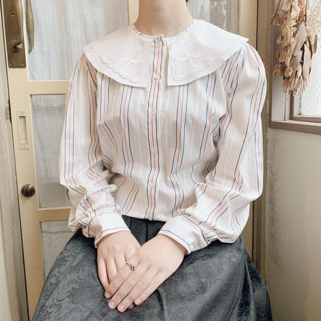 used  stripe blouse