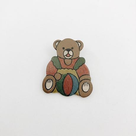 used bear brooch