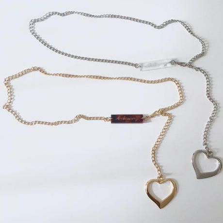 heart chain belt (gold)