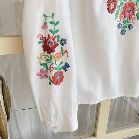 used euro embroidery blouse