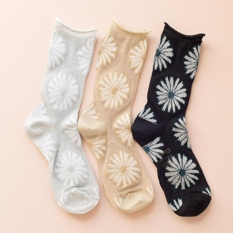 roro Daisy socks (black)