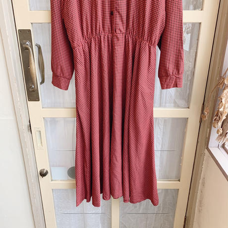 used cotton check dress