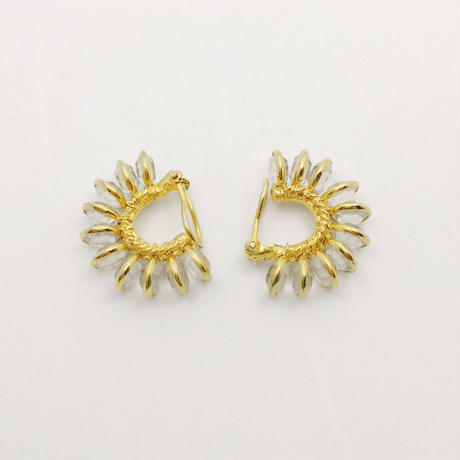 used clear earring