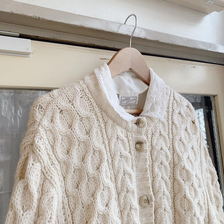 used cable  cardigan