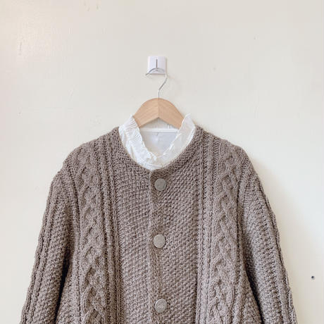 used euro  cable  cardigan