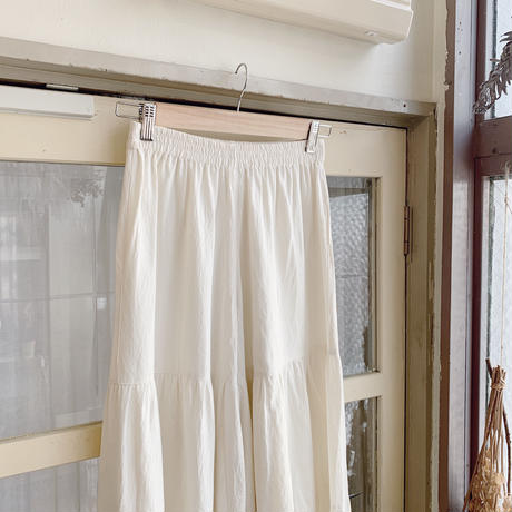 used linen frill wide pants