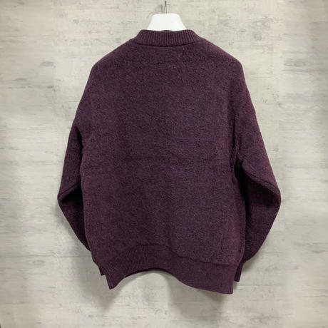 CROCODILE JACQUARD KNIT PULLOVER / PURPLE