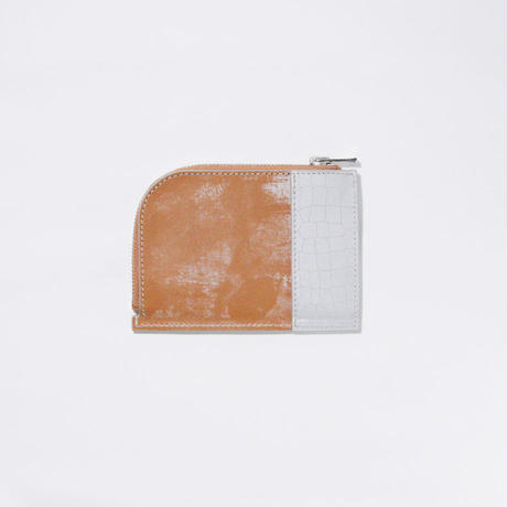 REFLECTOR LEATHER ZIP WALLET / MUSTARD