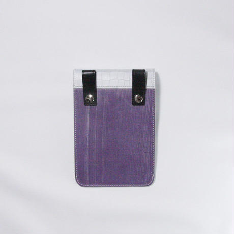 REFLECTOR LEATHER SACOCHE / PURPLE