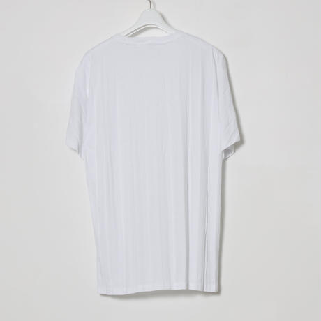 PLEATED T SHIRTS / WHT