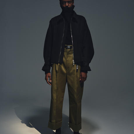 STANDARD WIDE TROUSERS / NAVY